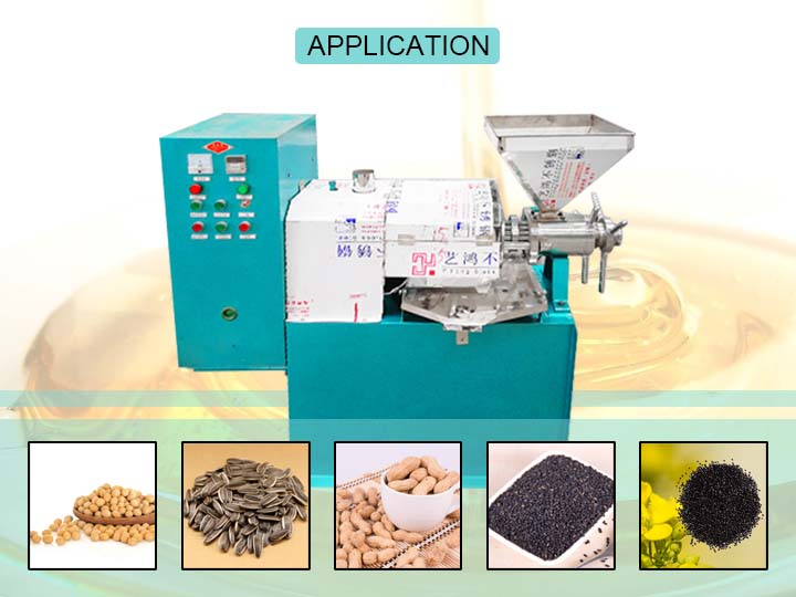 application market of this oil press machine