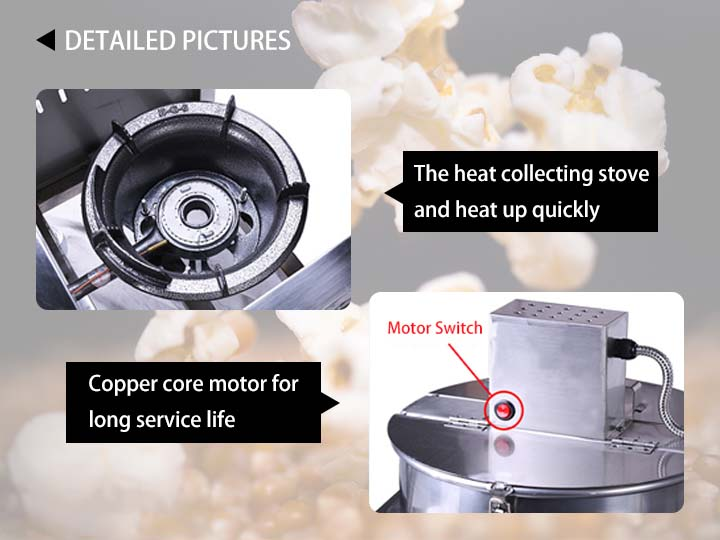 popcorn maker detail information 2