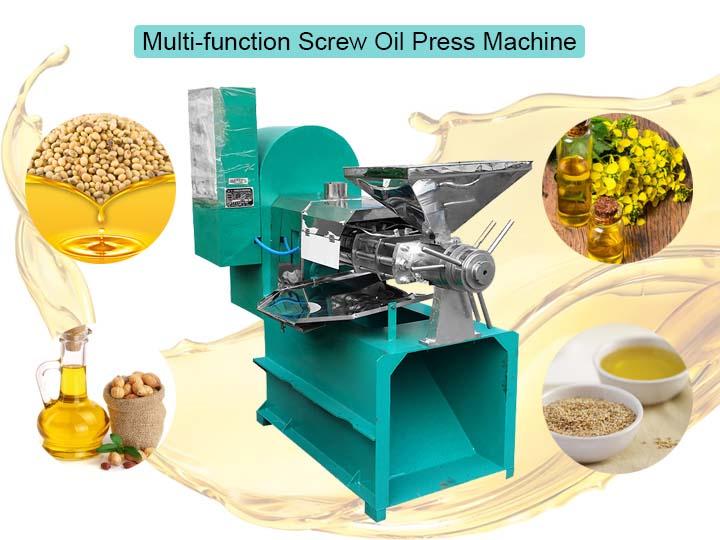 multi-function screw oil press machine