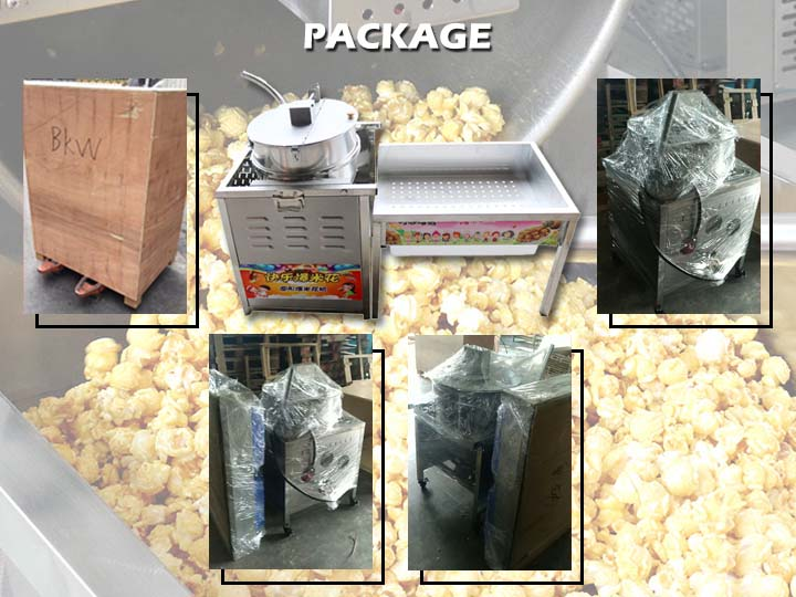shipment of popcorn maker