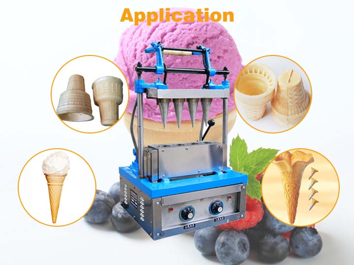 application of cone making machine