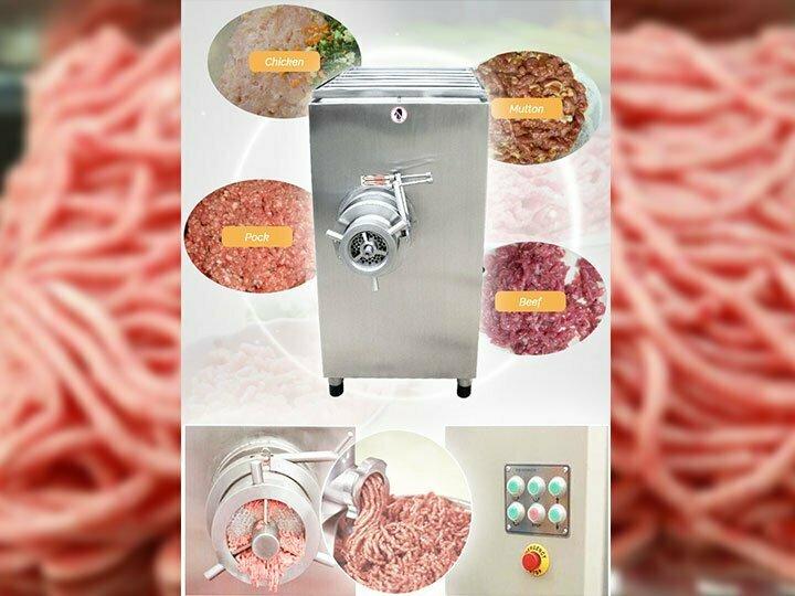 application of meat grinder