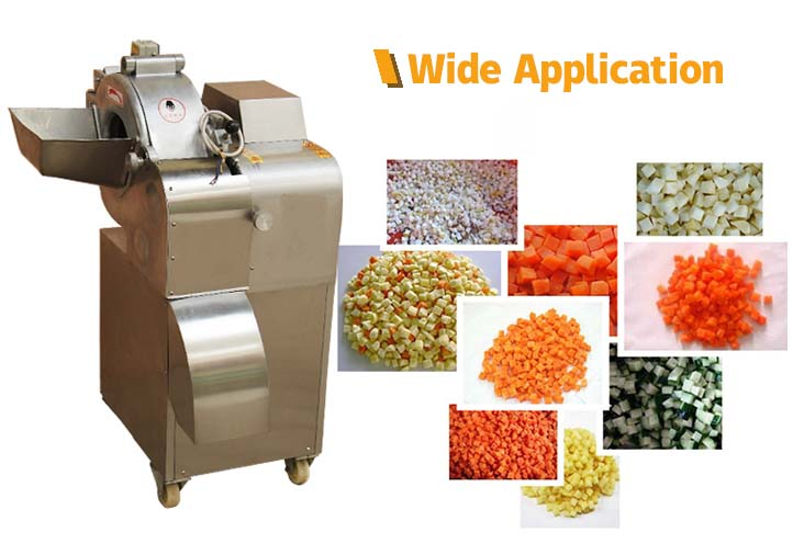 application of vegetable cutting machine