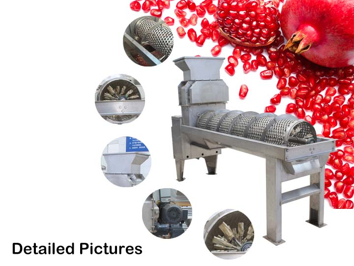detail information of pomegranate peeling machine