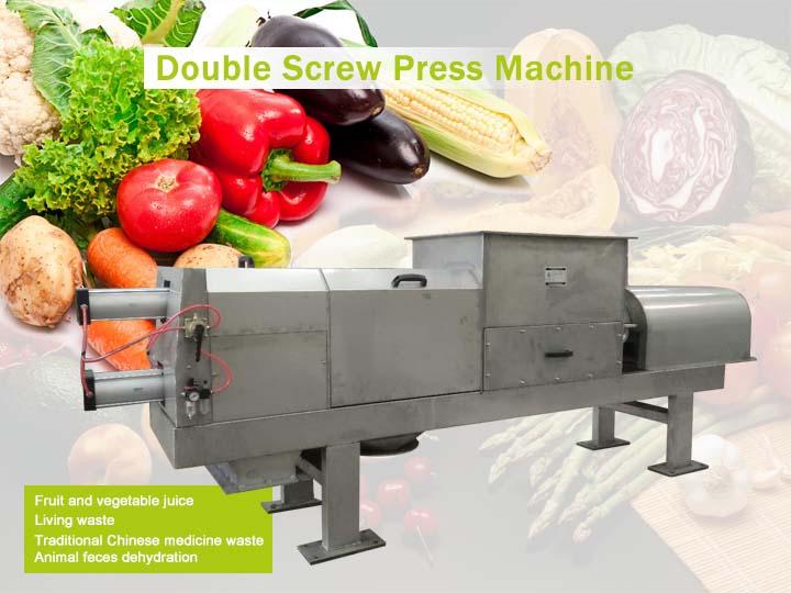 double screw press machine