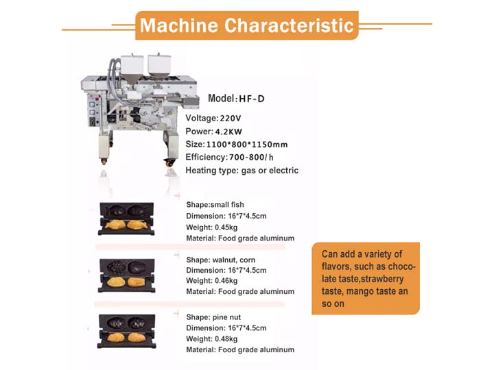 feature of cake making machine