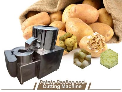 potato peeling and cutting machine