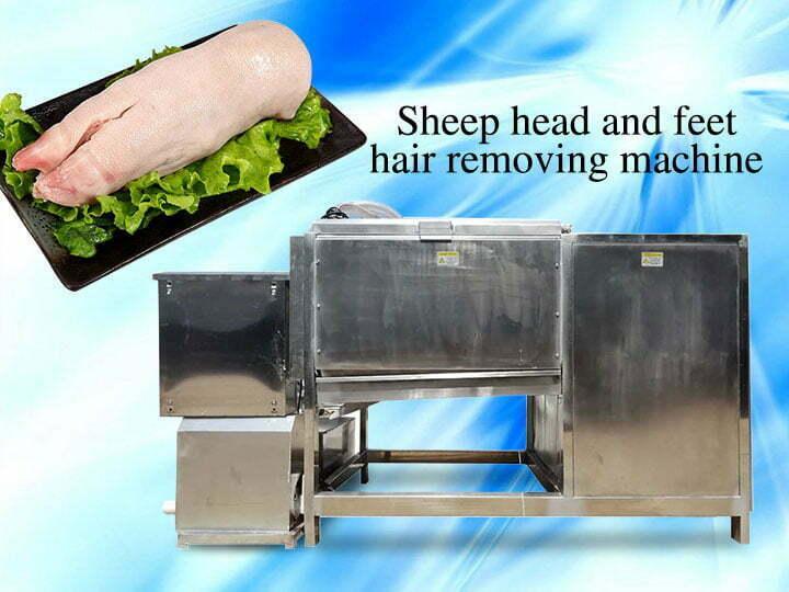 sheep head and feet dehairing machine