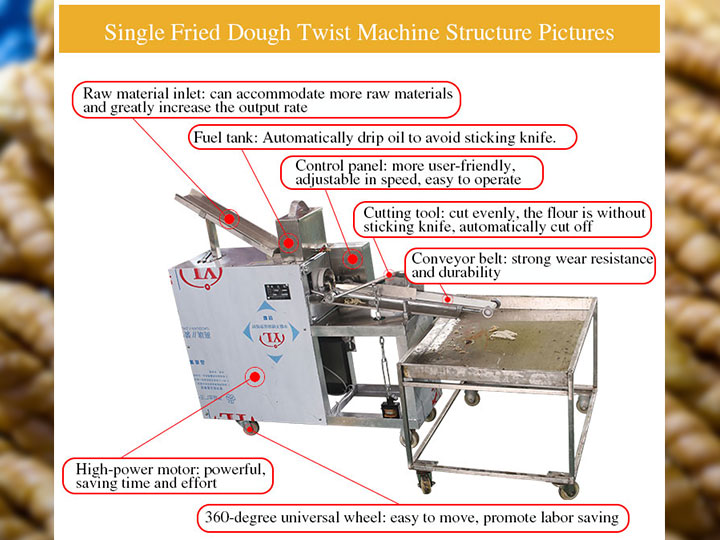 single fried dough twist machine structure