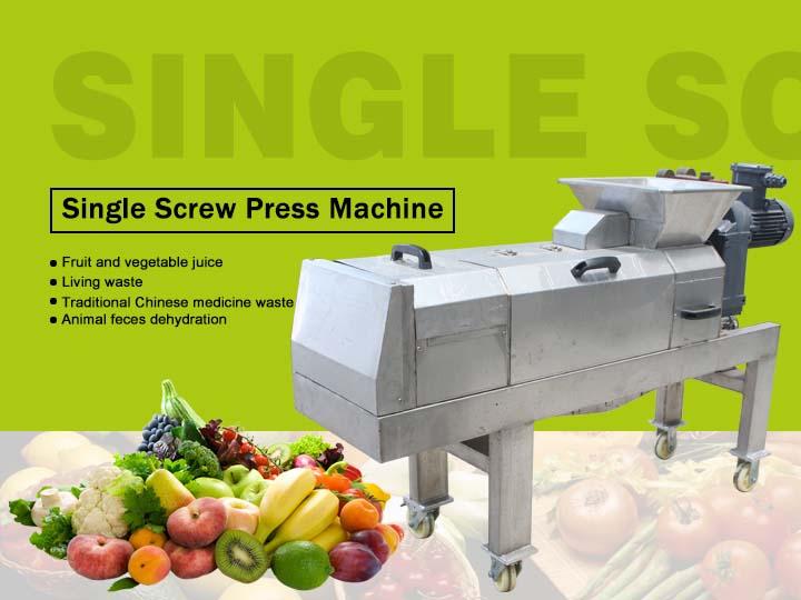 single screw press machine