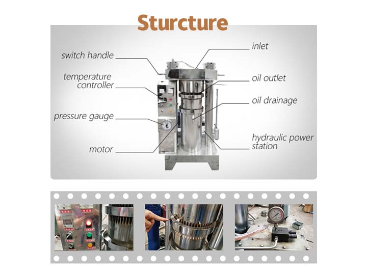 struccture of cold oil press machine