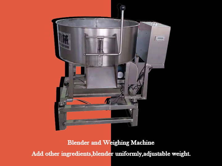 blender and weighing machine