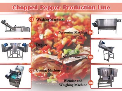 chopped pepper production line