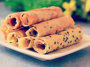 sesame egg roll