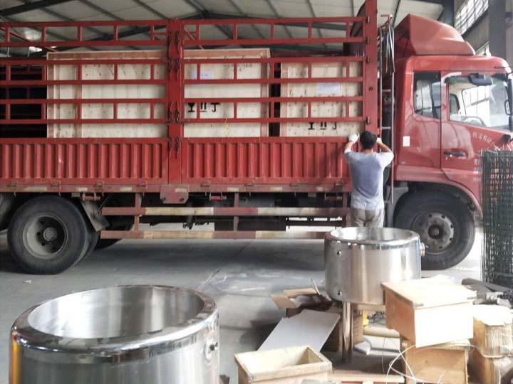 shipment of the yogurt processing machine