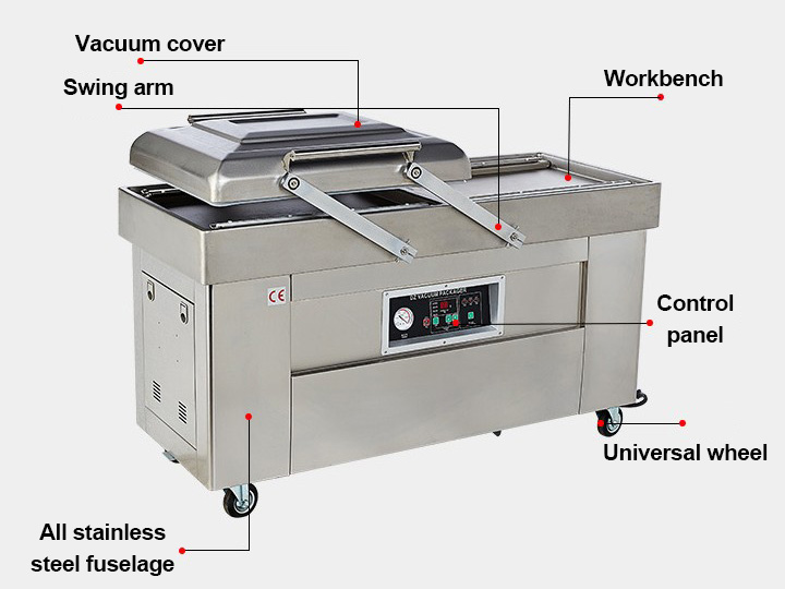 structure of the vacuum packaging machine