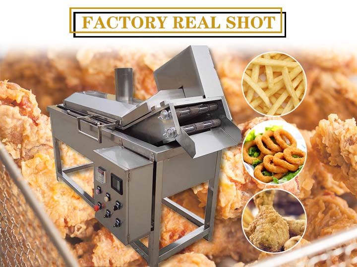 mesh belt type frying machine