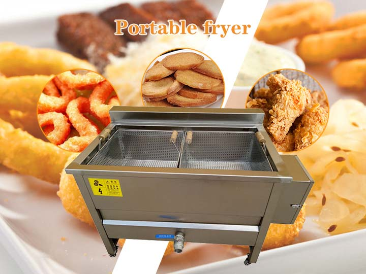 portable frying machine