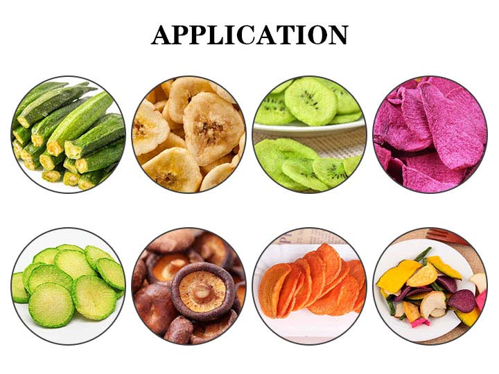 application of the fruit & vegetable chips making machine