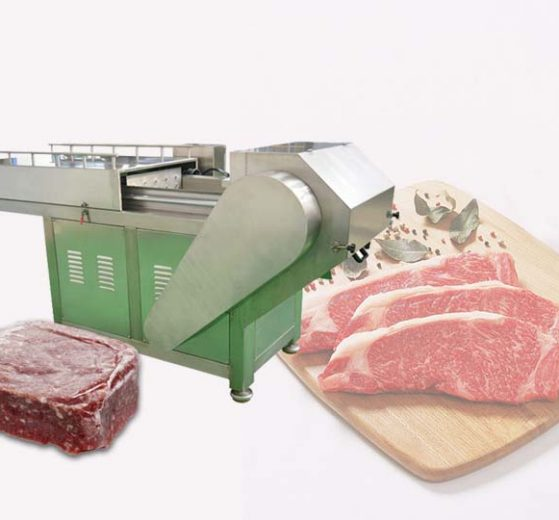 commercial frozen meat slicer