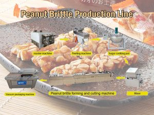 peanut brittle production line