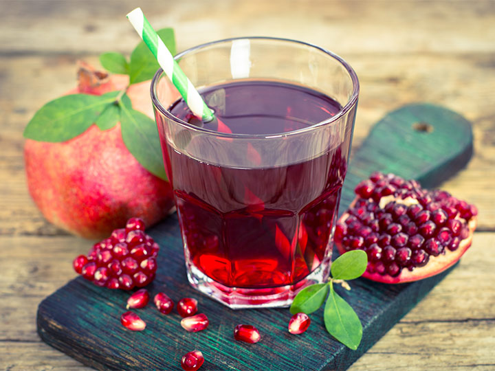 delicious pomegranate juice