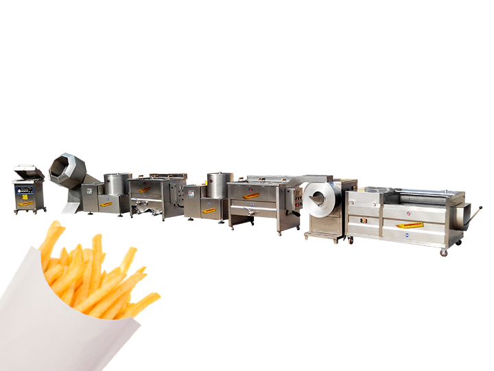 semi-automatic frozen fries processing plant