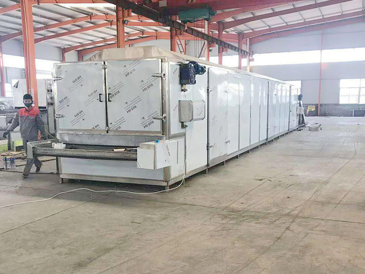 continuous fruit dryer machine for shipping to Mexico