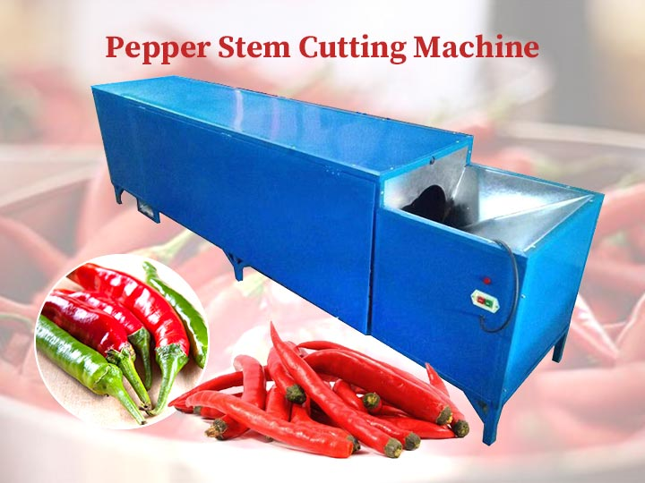 Pepper stem cutting machine